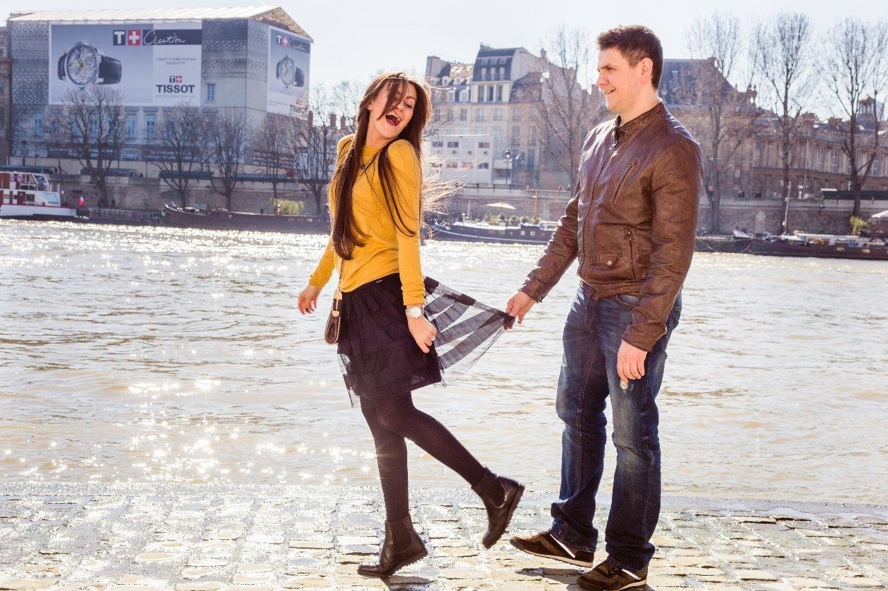 The River Seine photoshoot